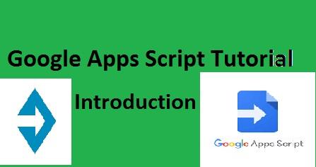 Google apps script tutorial