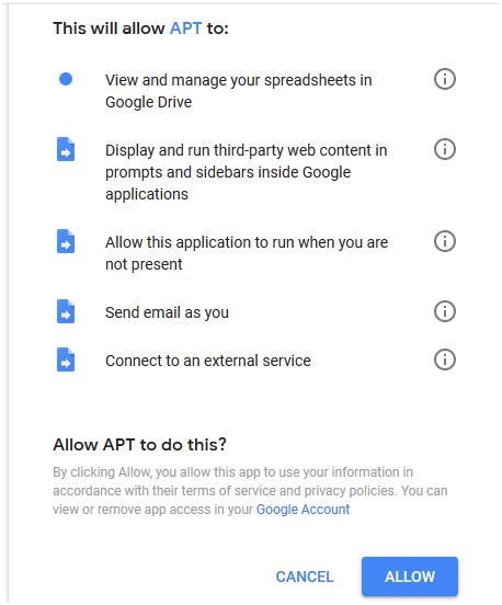 Allow access to amazon tracker