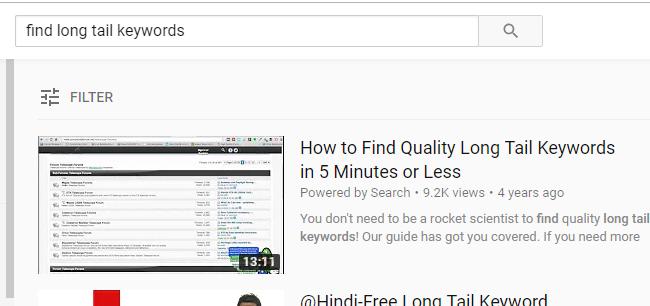 best keywords for youtube 2