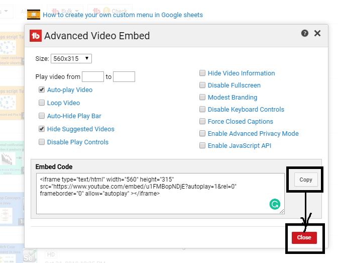 advanced youtube video embedding