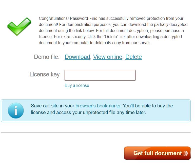 remove excel file password online